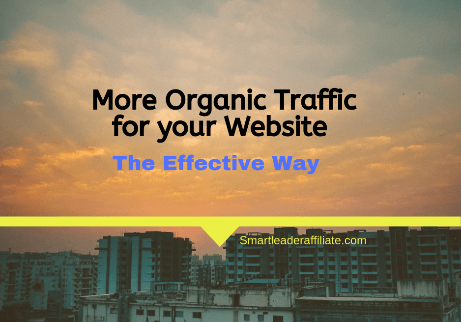 how to get more organic traffic for your website